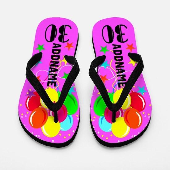 Colorful 30th Flip Flops