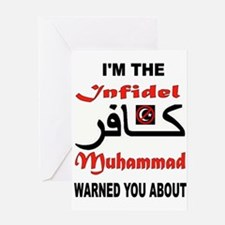 INFIDEL Greeting Cards