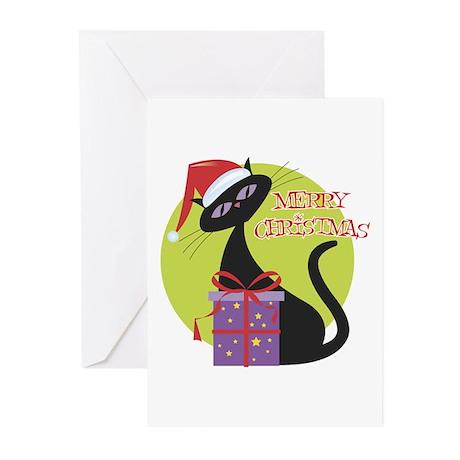 Retro Christmas Cat Greeting Cards (Pk of 20)