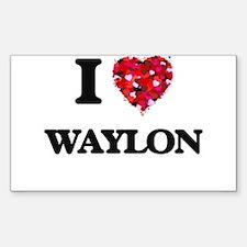 I Love Waylon Decal