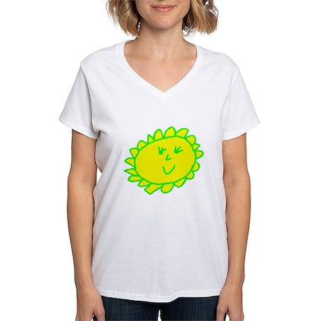 Smiling Sun Women's V-Neck T-Shirt
