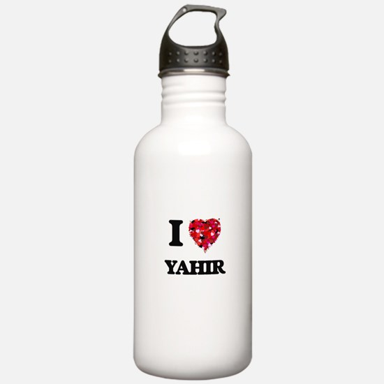 I Love Yahir Sports Water Bottle