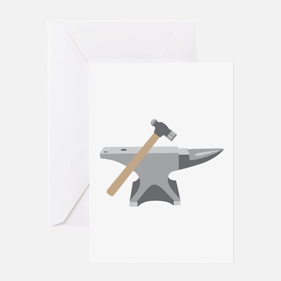 Anvil & Hammer Greeting Cards