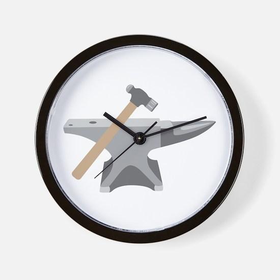 Anvil & Hammer Wall Clock