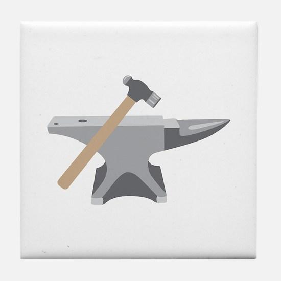 Anvil & Hammer Tile Coaster