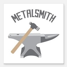 "Metalsmith Square Car Magnet 3"" x 3"""
