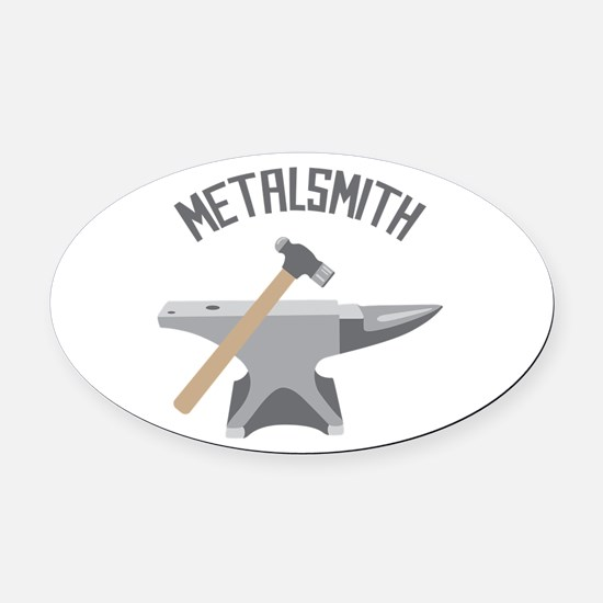 Metalsmith Oval Car Magnet
