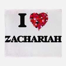 I Love Zachariah Throw Blanket