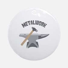 Metal Work Ornament (Round)