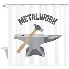 Metal Work Shower Curtain