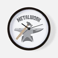 Metal Work Wall Clock