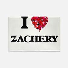 I Love Zachery Magnets