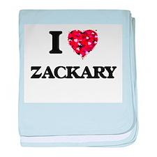 I Love Zackary baby blanket