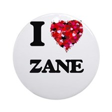 I Love Zane Ornament (Round)