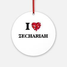 I Love Zechariah Ornament (Round)