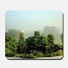 Garden in mist, Arzua,Spain Mousepad