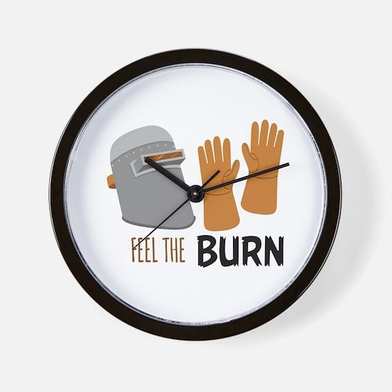 Feel The Burn Wall Clock