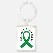 Scoliosis Awareness ribbon Keychains
