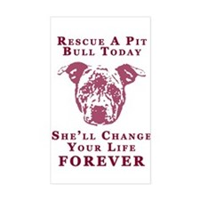 Pit Bull Rescue Decal