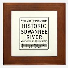 Historic Suwannee River, Florida Framed Tile