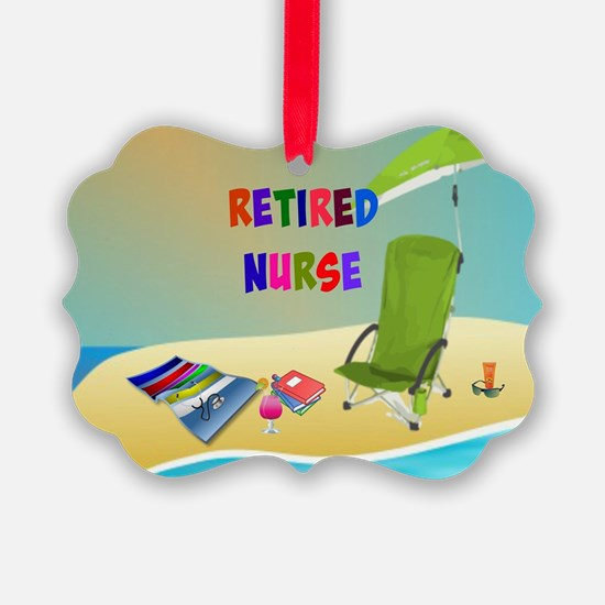 Retired Nurse, fun in the sun Ornament