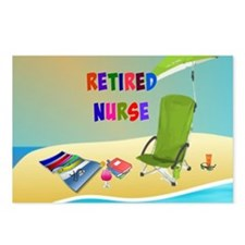 Retired Nurse, fun in the Postcards (Package of 8)