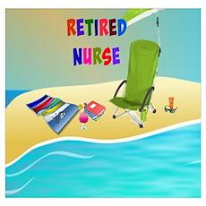 Retired Nurse, fun in the sun Poster