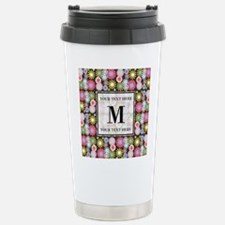 Floral Pattern with Cus Travel Mug