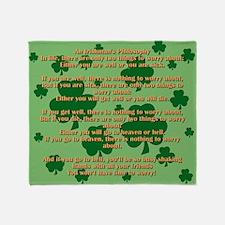 An Irishmans Philosophy Throw Blanket