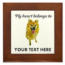 Personalized Pomeranian Framed Tile