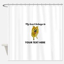 Personalized Pomeranian Shower Curtain