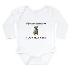 Personalized Puggle Long Sleeve Infant Bodysuit