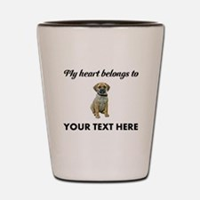 Personalized Puggle Shot Glass