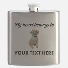 Personalized Puggle Flask
