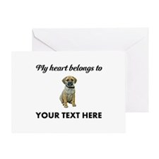 Personalized Puggle Greeting Card