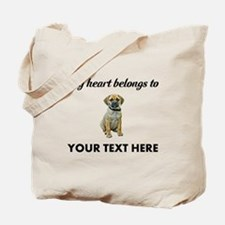 Personalized Puggle Tote Bag