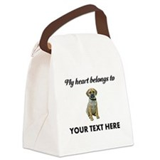 Personalized Puggle Canvas Lunch Bag