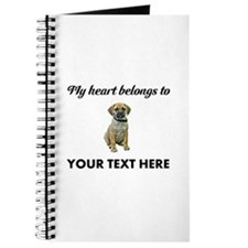 Personalized Puggle Journal