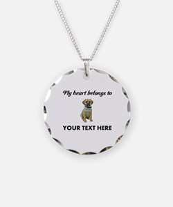 Personalized Puggle Necklace