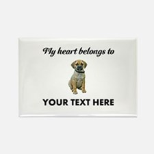 Personalized Puggle Rectangle Magnet
