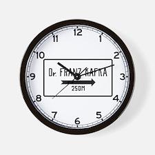 Dr. Franz Kafka, Prague Cemetery, (CZ) Wall Clock
