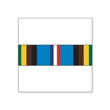 "Cute Military medals and ribbons Square Sticker 3"" x 3"""