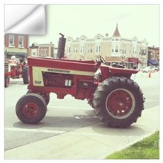 Tractor on the Town Square Wall Decal