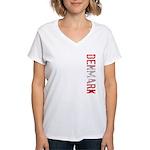 Denmark Women's V-Neck T-Shirt