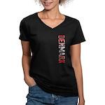 Denmark Women's V-Neck Dark T-Shirt