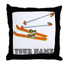 Skis (Custom) Throw Pillow