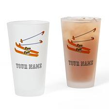 Skis (Custom) Drinking Glass