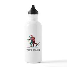 Cross Country Skiers (Custom) Water Bottle