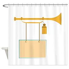 Bugle Sign Shower Curtain