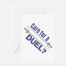 Care For A Duel Greeting Cards